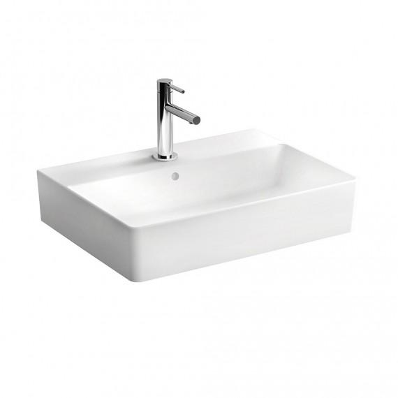 Lavabo per installazione sospesa rettangolare con foro rubinetto Nuo di Vitra 60 cm in ceramica