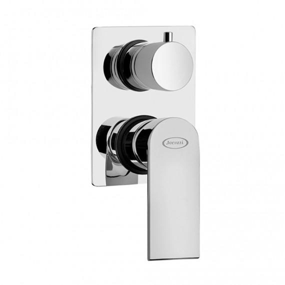 Miscelatore doccia incasso monoleva con deviatore rotativo Jacuzzi | rubinetteria Twilight ottone cromato 0TI00400JA00