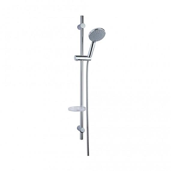 Saliscendi doccia con doccino 5 getti anticalcare, flessibile e portasapone di Jacuzzi | rubinetteria