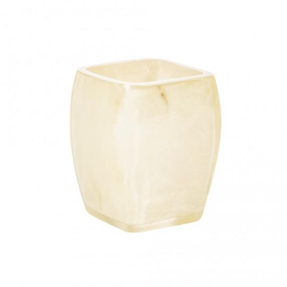 Bicchiere porta spazzolini Cipì serie Perla con inserti madreperla
