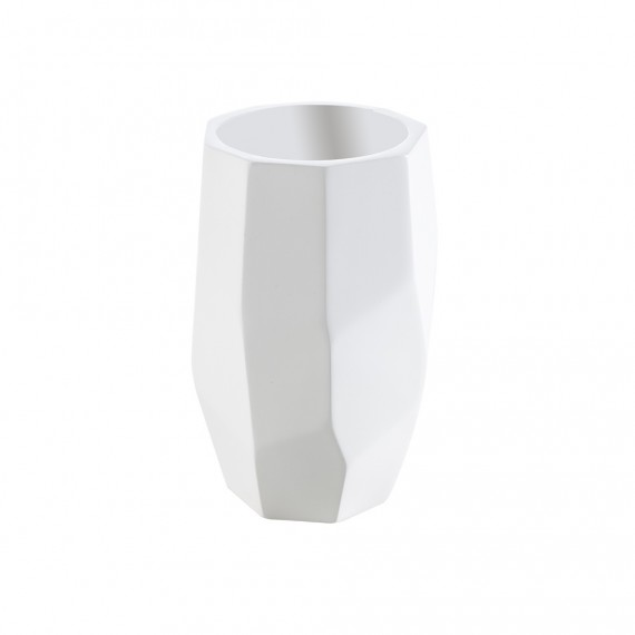 Bicchiere porta spazzolini da appoggio in solid surface di Cipì