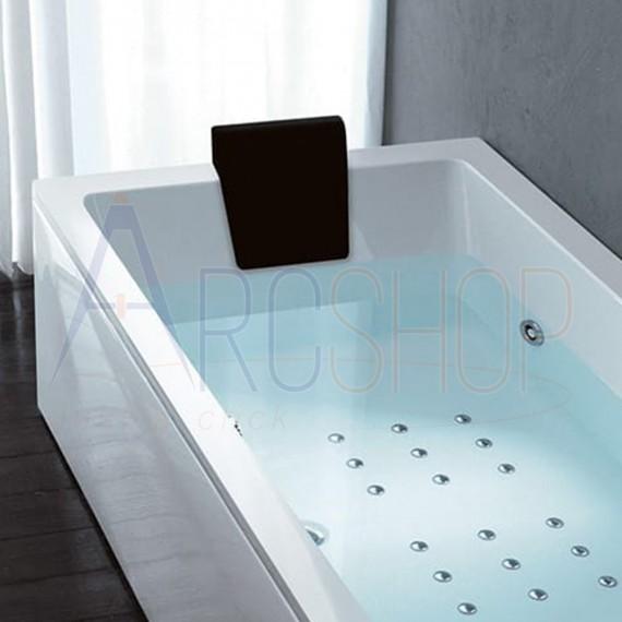 Cuscino poggiatesta nero per vasca Treesse  Mod. Quadra , Spider , Asyx