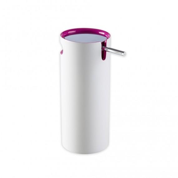 Dispenser da appoggio in resina bicolore serie Idol di Cipì bianco e rosa