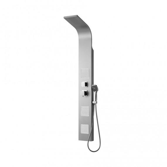 Pannello doccia Otranto in alluminio soffione integrato e 3 soffioni orizzontali e doccetta monogetto 0HR00200CO02