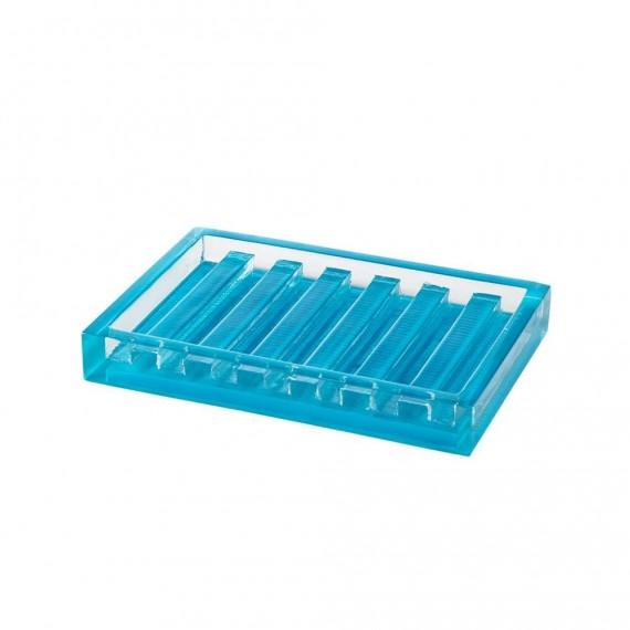 Cipì porta sapone serie Billy in poliacrilica trasparente blu