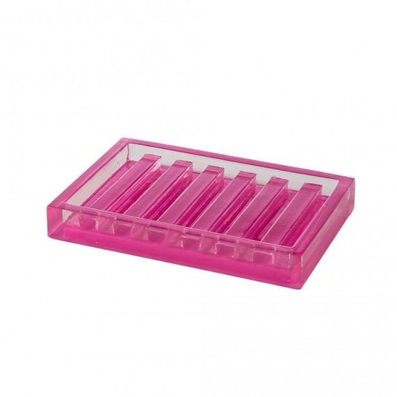 Cipì porta sapone serie Billy in poliacrilica trasparente rosa