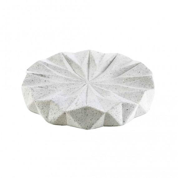 Portasapone in resina pigmentata da appoggio serie Geo White di Cipì
