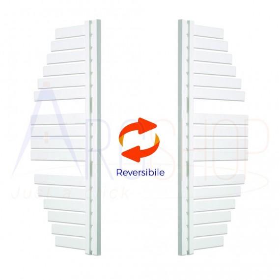 Termoarredo Way by Lazzarini Spinnaker 1100X483 mm bianco installazione reversibile design vela