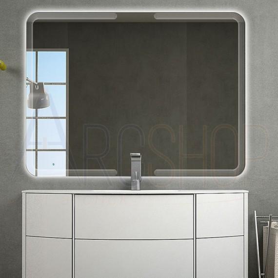Specchio LED con righe accensione touch 90X120