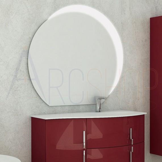 Specchio mezzaluna satinata retroilluminata LED 98X109 design