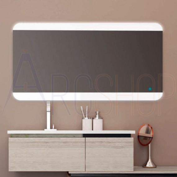 Specchio 70X136 LED con sensore touch retroilluminato bordi satinati
