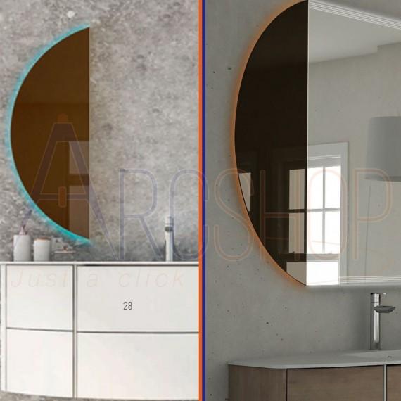 Specchio bronzato LED retroilluminato colori RGB con telecomando