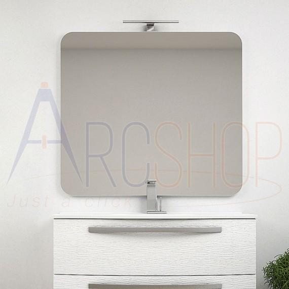Specchio filo lucido 90X100 rettangolare con angoli tondi