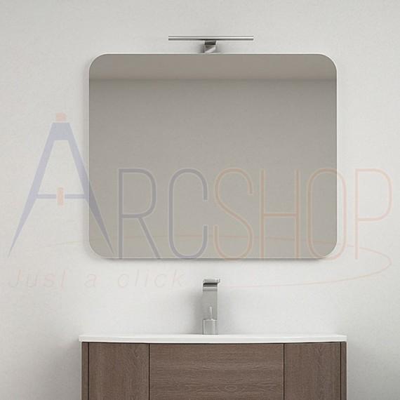 Specchio stondato filo lucido 90X74 reversibile forma rettangolare