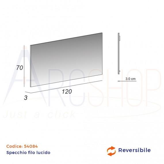 Specchio filo lucido 70X120 rettangolare reversibile