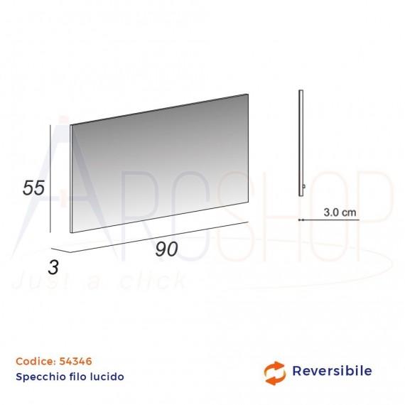 Specchio filo lucido rettangolare 55X90 reversibile
