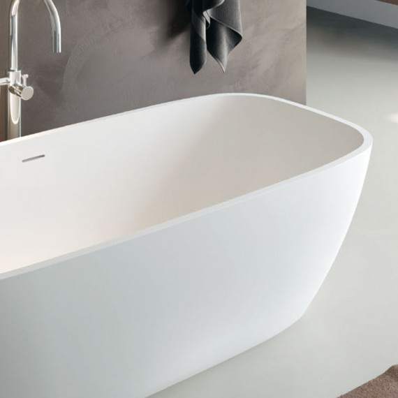Vasca Da Bagno Vasca Da Bagno.Vasca Da Bagno Freestanding In Solid Surface Bianco Opaco O Bianco Lucido Mod Brio Treesse