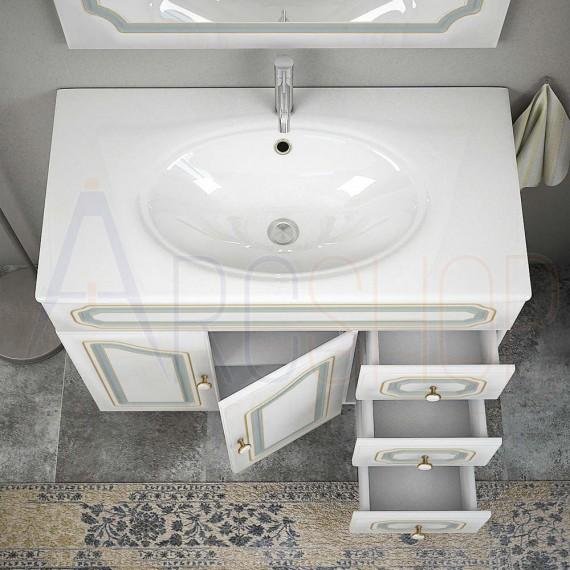 Mobili Per Il Bagno Classico.Mobile Bagno Classico Decape 90 Cm A Terra Con Specchio E Applique