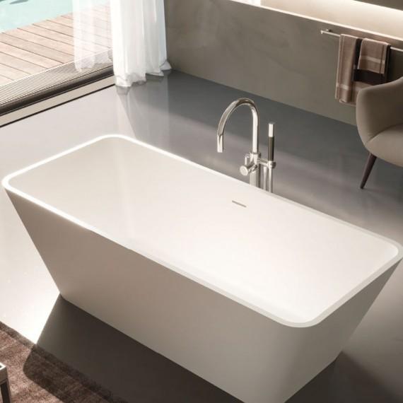 Vasca da bagno in Solid surface Treesse Viva bianco lucido o bianco opaco