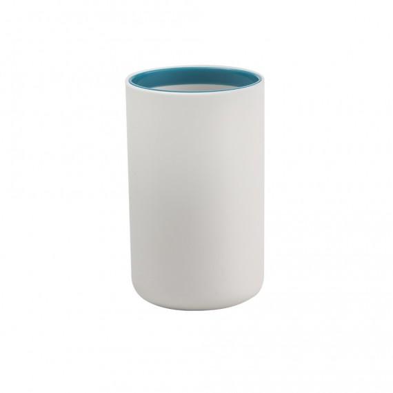 Set 4 pezzi accessori da appoggio Dispenser Bicchiere Porta sapone e Scopino True Colors di Cipì