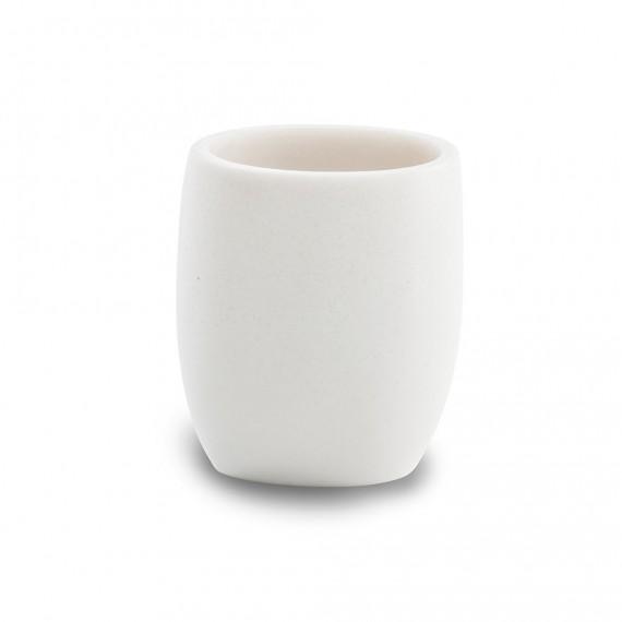 Set accessori da appoggio Zen White Cipì 4 pezzi Dispenser Bicchiere Porta sapone e Vassoio