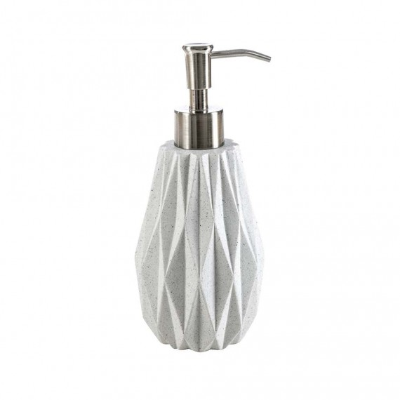 Set da accessori da bagno 3 pezzi Geo White di Cipì Dispenser Bicchiere e Porta sapone
