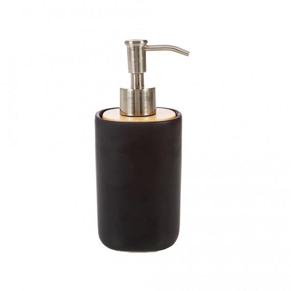 Set accessori da bagno 4 pezzi nero matto Plain di Cipì Dispenser Bicchiere Porta sapone e Vassoio