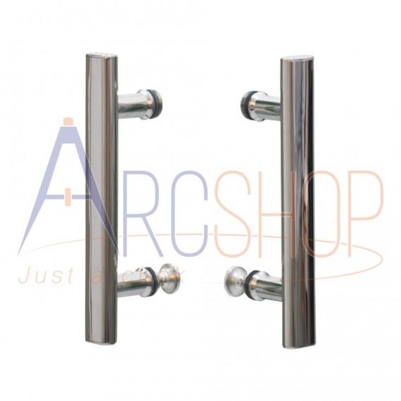 Box doccia scorrevole 70X90 con profilo in alluminio cromo e lastra cristallo 6 mm due lati h 195
