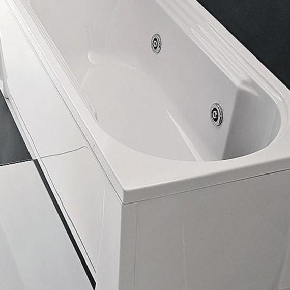 Vasca da bagno idromassaggio 140 cm impianto digitale Cristina Gruppo Treesse