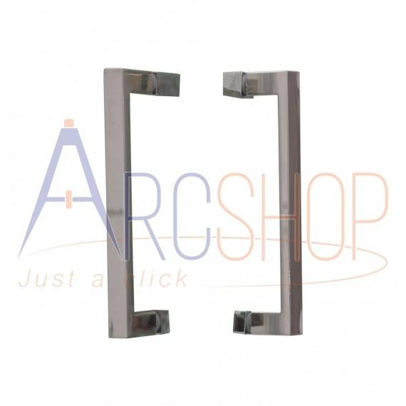 Cabina doccia 70X100 adattabile con profilo flat alluminio cromo lastra cristallo 6 mm due ante scorrevoli h 195