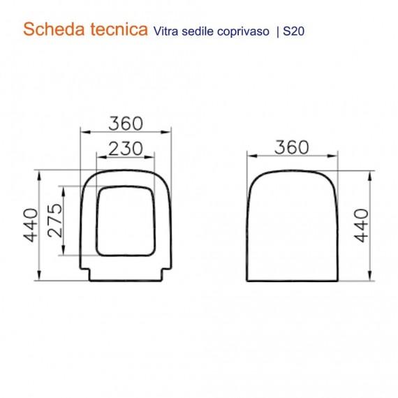 Sedile coprivaso vitra S20 in termoindurente