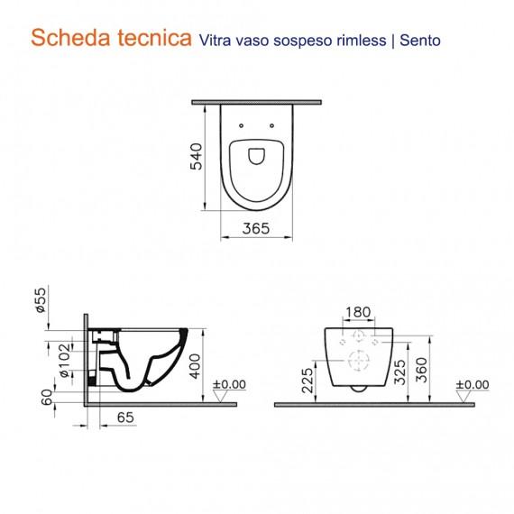 Scheda tecnica Vitra Sanitari WC