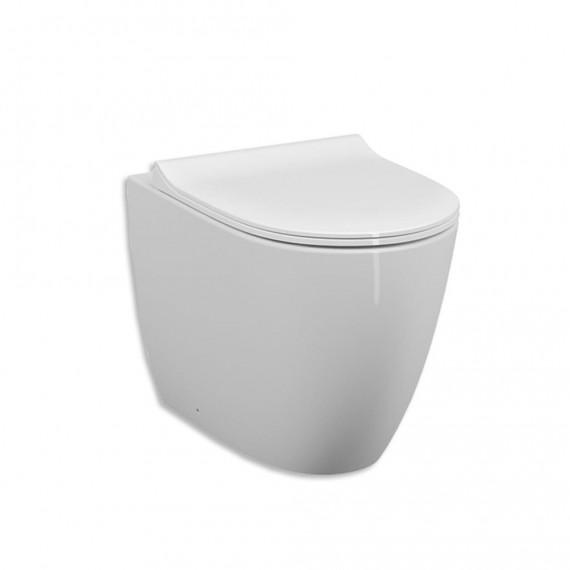 Sanitari Vitra filo parete di colore bianco lucido e scarico rimless