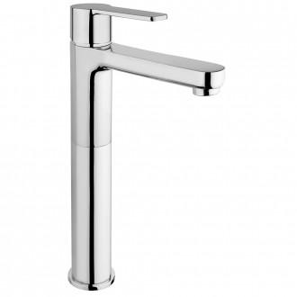 Miscelatore lavabo tipo alto Jacuzzi | rubinetteria Eolo ottone cromato per piletta clic clac 0E000493JA00