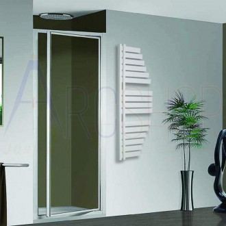 Termoarredo Way by Lazzarini Spinnaker 1100X483 mm bianco installazione reversibile design vela