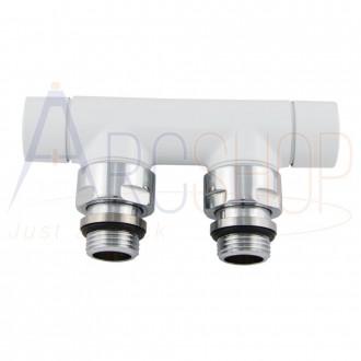 Valvola e detentore Lazzarini 3/4 EK bianco attacco a 5 cm per impianti rame o multistrato
