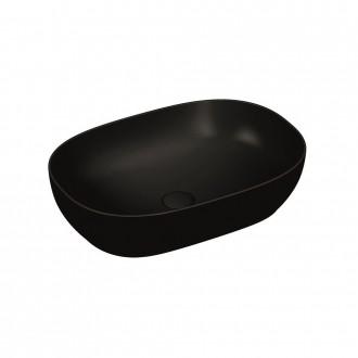 Lavabo da appoggio nero opaco Vitra sanitari 60 cm 5995B483-0016