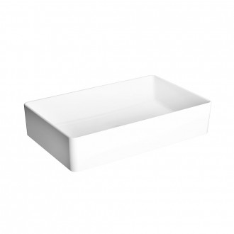 Lavabo da appoggio rettangolare Nuo di Vitra Sanitari ceramica Bianco lucido