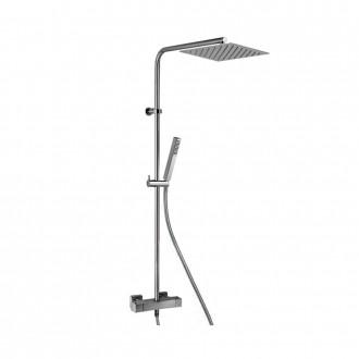 Colonna doccia Jacuzzi|rubinetteria Glint 90 ottone cromato soffione 20x20 cm con miscelatore termostatico 0IQ00199JA00