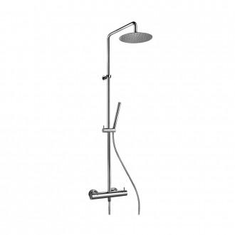 Colonna doccia Jacuzzi|rubinetteria Sunset 91 ottone cromato soffione diametro 20 cm con miscelatore termostatico 0SU00199JA01