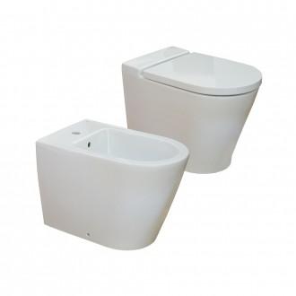 Sanitari moderni filoparete Roca wc e bidet serie Inspira