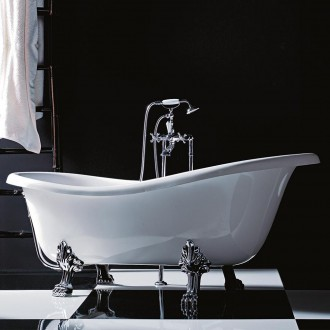 Vasca da bagno freestanding classica con piedi cromo 170 cm Treesse Epoca
