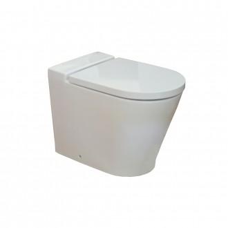 Wc vaso filomuro a pavimento ceramica Roca Mod. Inspira scarico universale