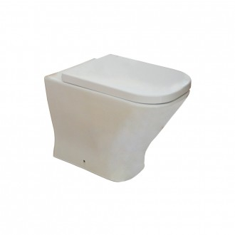 Wc vaso filomuro a terra in ceramica Roca Mod. The Gap doppio scarico