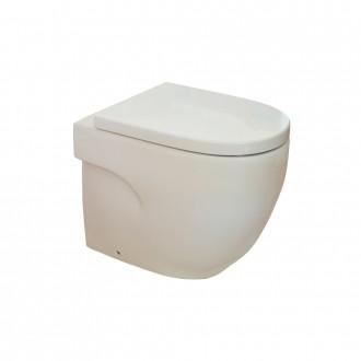 Vaso wc a pavimento filomuro ceramica Roca Mod. Meridian doppio scarico