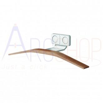 Appendino per termoarredo design magnetico in legno Teak ed alluminio Lazzarini Hang