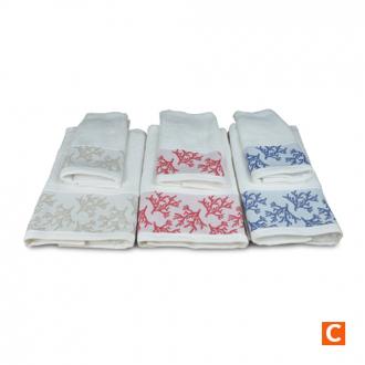 Set 2 Asciugamani 100% cotone