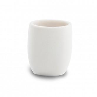 Bicchiere portaspazzolini da appoggio Cipì Zen bianco resina satinata