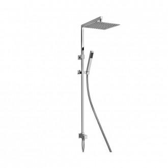 Colonna doccia Jacuzzi|rubinetteria Glint 60 ottone cromato soffione 25x25 cm interasse regolabile 0IQ00846JA00