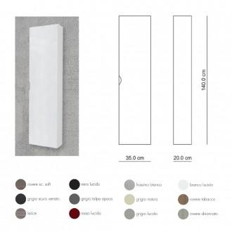 Colonna 140 cm bianco frassino
